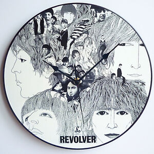 Revolver-The-Beatles-12-LP-Vinyl-Record-Clocks-Lennon-McCartney-Canvas