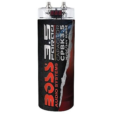 BOSS Audio CPBK3.5 3.5 Farad Digital Car Audio Capacitor New