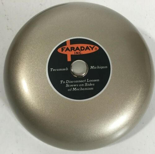 Faraday Inc. 6 Inch Replacement Bell Gong Beige (Gong Only) NOS in Original Box