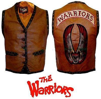 The Warriors Movie Real Leather Vest Jacket - Warriors Halloween Costume Jacket