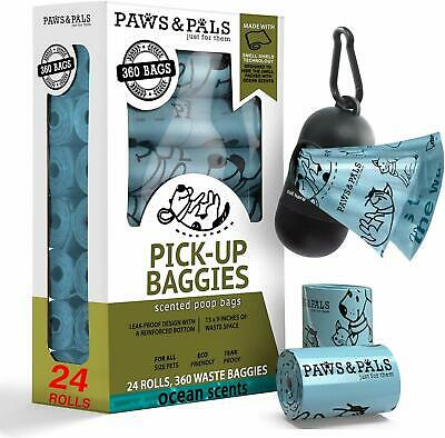Poop Bags for Dogs Biodegradable Waste Pet Dog & Cat Scented Poo Bag Doggy Waste Bags