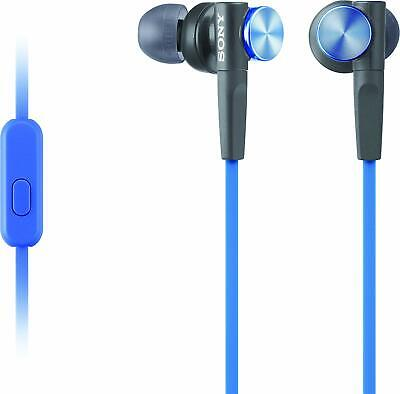 Used, Sony MDR-XB50AP In Ear Headphone Headset Earbud Extra BASS BLUE for sale  Shipping to India