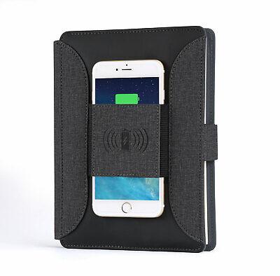 Portfolio Phone Wireless Charging Padfolio Portable Notebook Organizer Folder