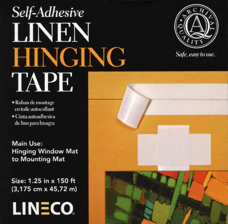 "Self Adhesive Linen Hinging Tape 1.25""X150"