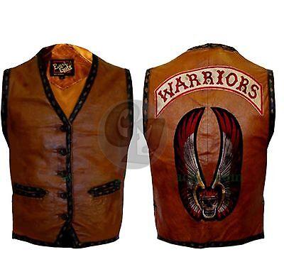 The Warriors Movie Stylish Vest Leather Jacket Bike Riders Halloween Costume New