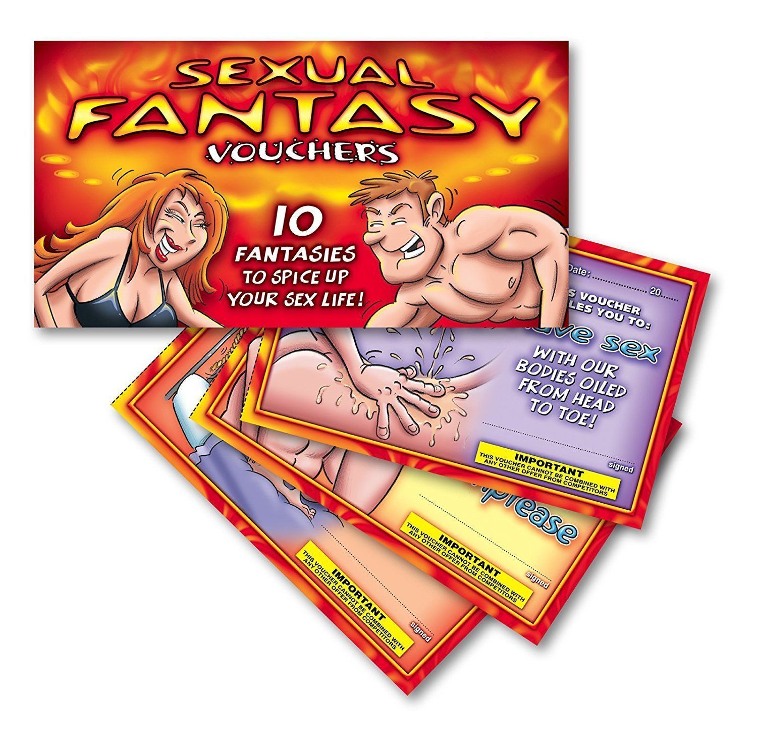 NEW Adult Novelty Booklet Vouchers Hot Naughty Bedroom Fun S