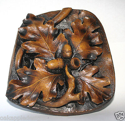 Oak Foliage Leaf Acorns Medieval Reproduction Cathedral Carving Wall Plaque Gift