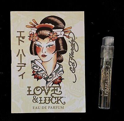 Ed Hardy Love & Luck For Women SAMPLE .05 oz/ 1.52 mL EDP In Card New