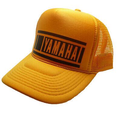 Vintage 80s Trucker Hat (Vintage Yamaha Motocross Hat 80's Trucker Hat racing hat snapback cap yellow)