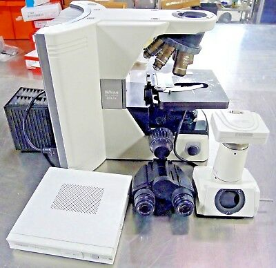 Nikon Eclipse 80i Digital Fluorescence Microscope W 6 Objectives