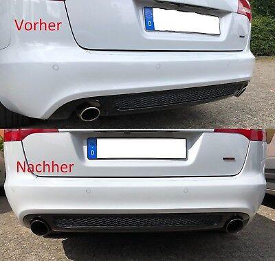 SPORT AUSPUFF ENDROHRE BLENDEN CHROME FÜR AUDI A3 A4 A5 A6 A7 A8 BL202 101mm