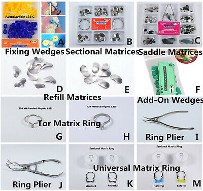 Tor Vm Dental Sectional Contoured Matrices Matrix Bands Delta Ring Wedges Plier