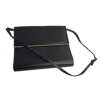 Planner Organizer 3-ring Binder Purse Avon Black Faux Leather Shoulder Bag
