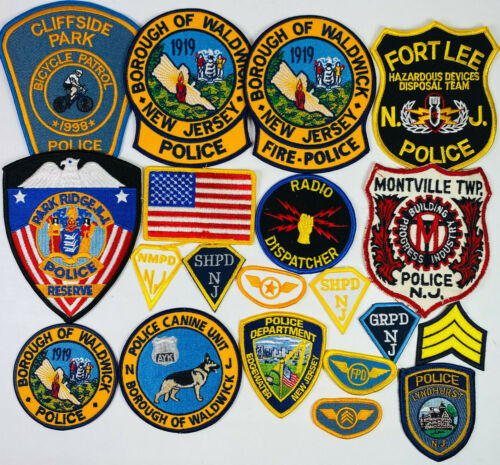 20 New Jersey Police K9 Bomb Bike Patches Collection NJ Patch Lot C