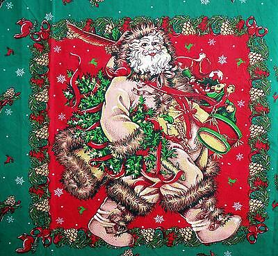Cheryl Ann Johnson Woodland Santa Pillow Placemat Fabric Panels