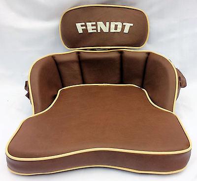 Sitzkissen für Fendt Farmer GT Schlepper mit Fendt - Bestickung (500407)