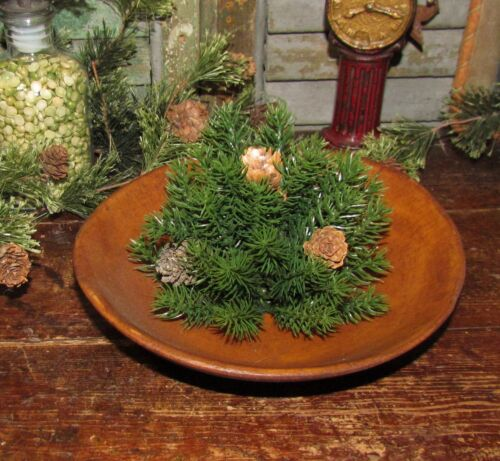 """Primitive 5"""" Pine Cone Ball Sphere Tabletop Faux Fake Floral Topiary Bowl Filler"""
