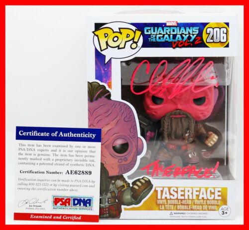Chris Sullivan Signed Taserface Guardians Of The Galaxy Autograph Funko POP PSA