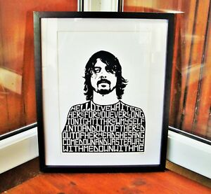 Foo Fighters/Dave Grohl/Everlong A3 size typography art print/poster