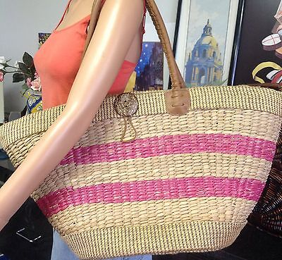 SUN N SAND Big Straw Bag Designer Spring Summer Fashion Bohemian Style