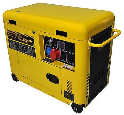 Generatore di corrente diesel 6 kw trifase silenziato - gruppo elettrogeno  usato  Carrera