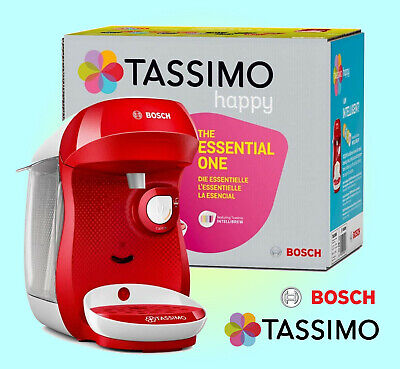 TASSIMO by Bosch Happy TAS1006GB Coffee Machine - Red & White
