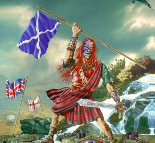 IRON MAIDEN The Clansman BANNER HUGE 4X4 Ft Fabric Poster Tapestry Flag art