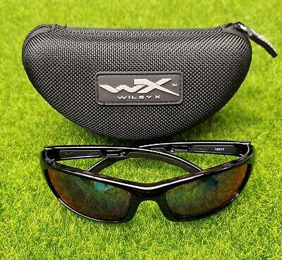 Wiley X P-17 Sunglasses Polarized Emerald Mirror Lens, Gloss Black Frame  (Emerald Sunglasses)