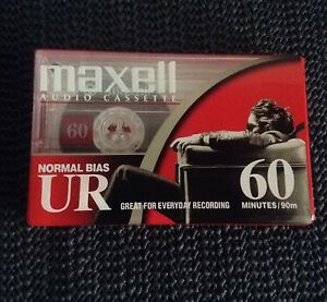 Four New Maxell UR60 Blank Cassettes