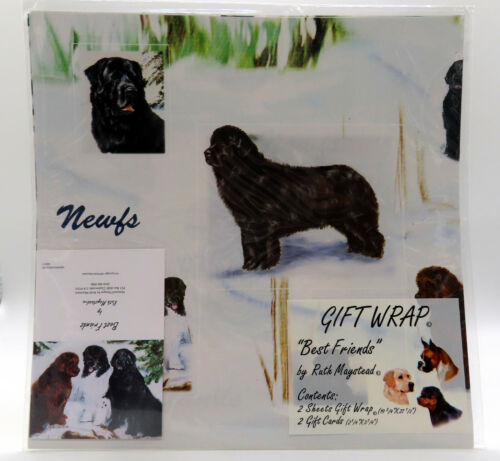 """Newfoundland Gift Wrap 12 Pack (24 Sheets) w/ Gift Cards 20"""" x 27"""" Ruth Maystead"""