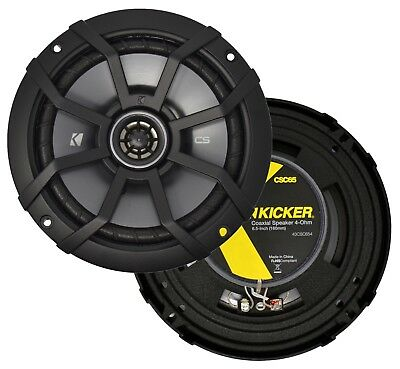 "Kicker CS Series 6.5"" 2-Way 300 Watts Car Speakers - Pair - CSC65 (43CSC654)"