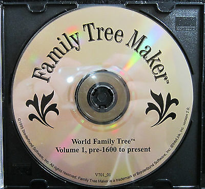 Family Tree Maker - World FTM Vo.l's 1-6 Pre - 1600 to Present