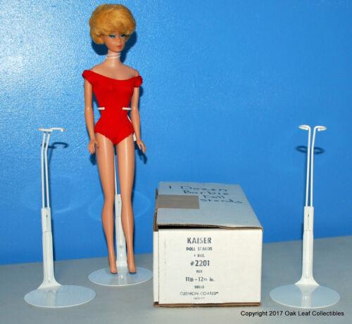 """1 Dozen 12 Kaiser 2201 WHITE 11.5""""-12.5"""" Barbie MATTEL JEM & Other DOLL STANDS"""