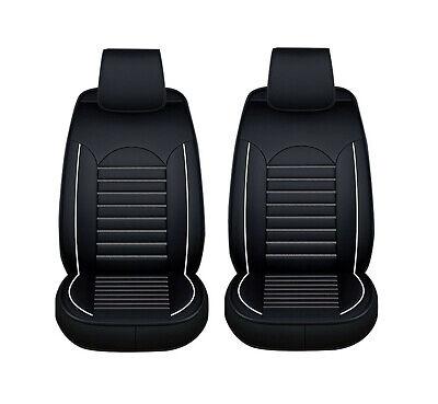 1+1 eleganter Autositzbezug Schwarz weiss Sitzbezüge Kunstleder Schonbezüge