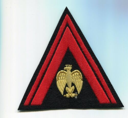Italian Sleeve Triangle Badge for Officers of the Black Shirts