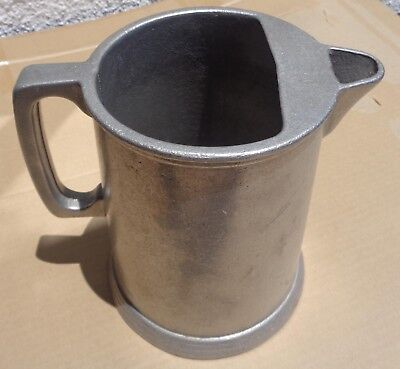 "Pitcher with Ice Catcher Metal 7 ½"" Tall  Country Ware Type"