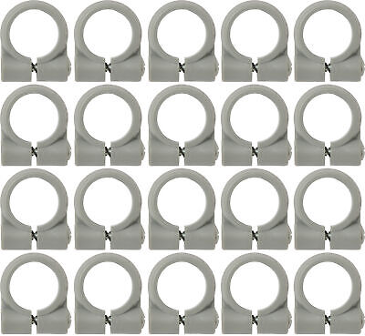 Loc-line Gray - 14 Element Clamp - 2 Packs Of 20