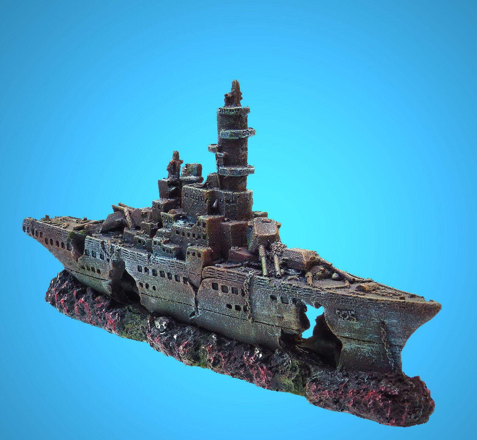 Deko Aquarium Titanic Höhle Boot Fische Dekoration Schiffs-wrack Terrarium Dekorationen Fische & Aquarien