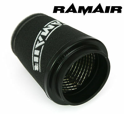 RAMAIR INDUCTION FOAM CONE AIR FILTER UNIVERSAL 90mm NECK - 125mm TALL