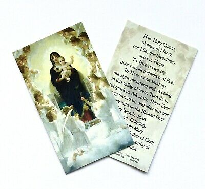 HAIL, HOLY QUEEN Prayer Card - Wallet / Purse / Bookmark Size