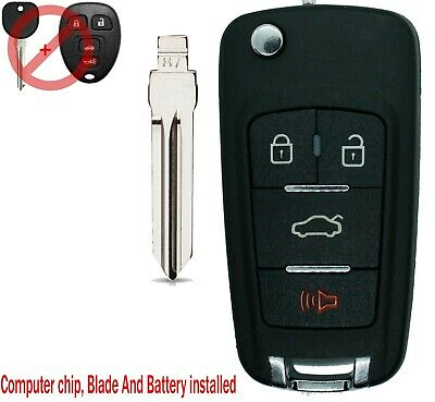 NEW FOR 2007 - 2013 Chevrolet Avalanche Upgraded Flip Key Style With CIRCLE PLUS