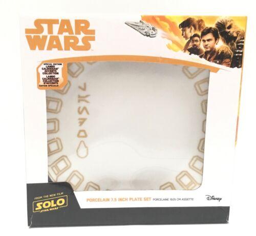 "Disney Star Wars SOLO Lando Calrissian Accents Set/4 Salad Plates 7.5"" NIB"