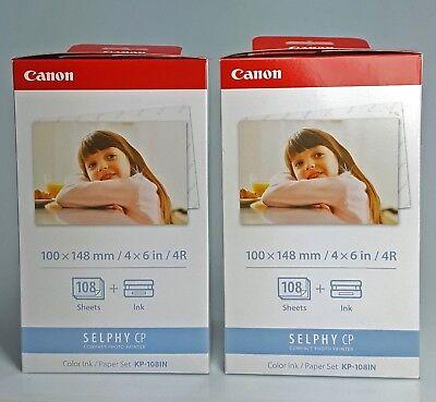 2x CANON KP 108-IN Papel foto 10x15 + cinta para impresora Selphy- 108 segunda mano  Embacar hacia Argentina
