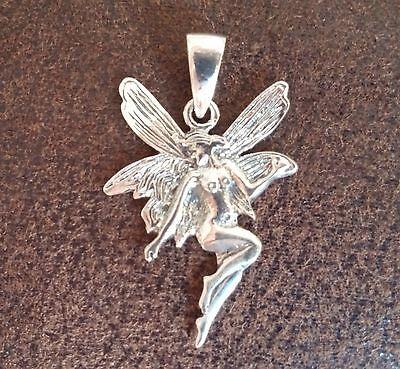 .925 Sterling silver Fairy Pendant Irish, Celtic faerie