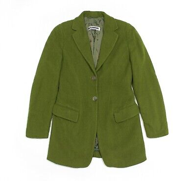 Jil Sander 90S Wool Green Short Coat Vintage
