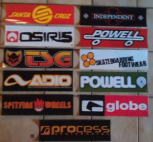 xxxl skateboard rampen sticker verschiedene marken. Black Bedroom Furniture Sets. Home Design Ideas