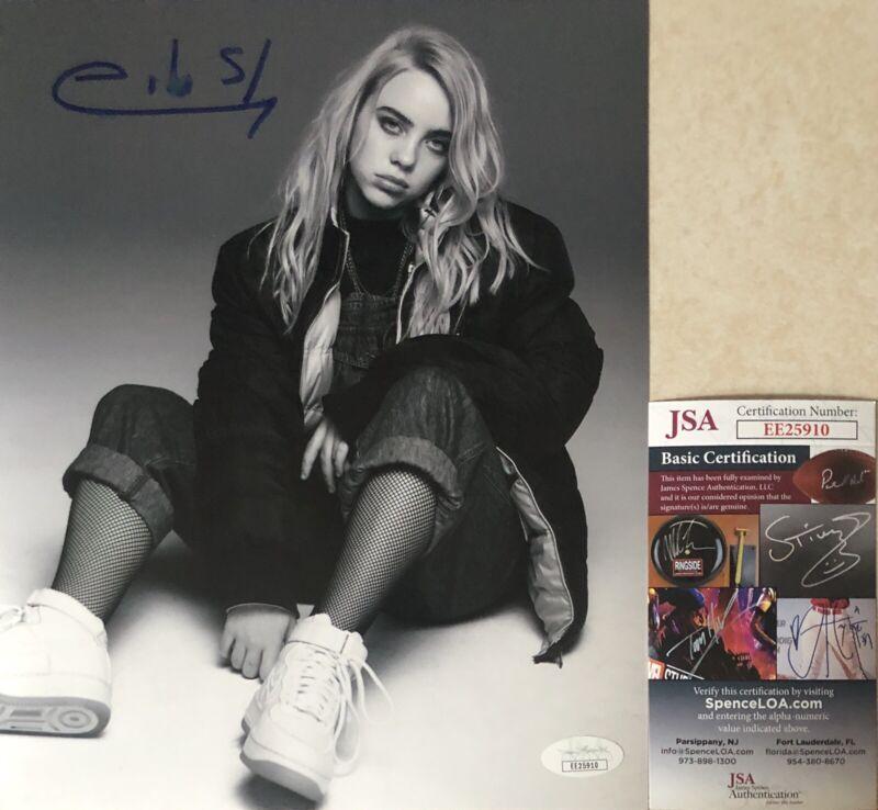 Billie Eilish Hand Signed Autographed 8x10 Photo JSA COA When We All Fall Asleep