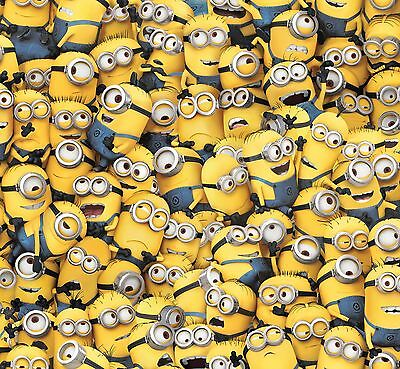 Despicable Me Yellow Packed Minions Premium 100% cotton Fabric Remnant - Despicable Me Fabric
