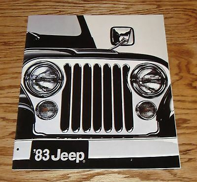 Original 1983 Jeep Full Line Deluxe Sales Brochure 83 CJ-5 CJ-7 Wagoneer