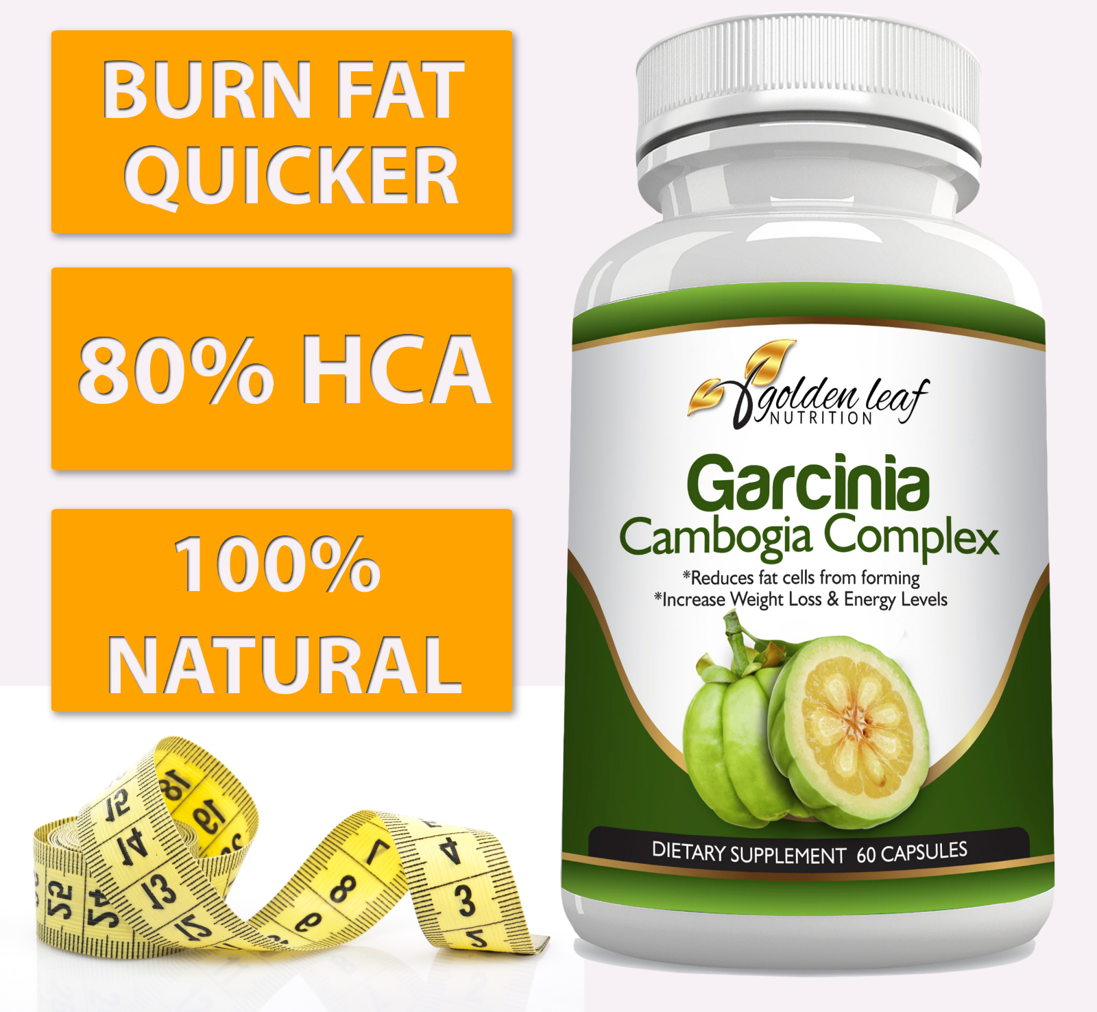 Golden Leaf Nutrition Garcinia Cambogia Extract Appetite Sup